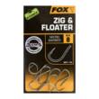 FOX Háčiky Edges Zig & Floater Hooks 10X size 6