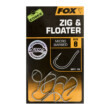 FOX Háčiky Edges Zig & Floater Hooks 10X size 8B (Bez Protihrotu)