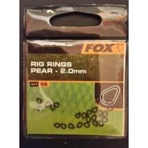FOX - Rig Rings Pear - 2,0mm/25x