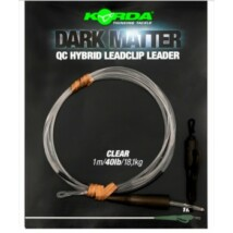 KORDA Dark matter Leader 1m/40lb  QC Hybrid Clip Clear