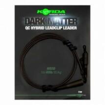 KORDA Dark matter Leader 50cm/40lb  QC Hybrid Clip Weed