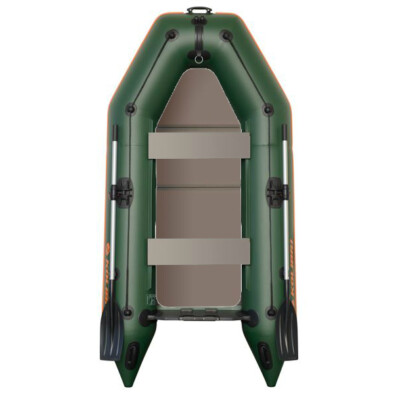 Čln Kolibri KM-245 D zelený, nafukovací kýl, pevná podlaha