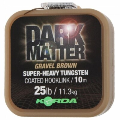 Korda šnúra Dark Matter - Gravel Brown 10m 18lb
