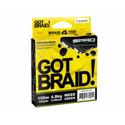 Šnúra SPRO GOT BRAID! Green 0.10mm 150m